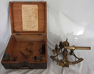 Antique German Marine Maritime Sextant & Case By Eigenes Ship Boat Yacht photo