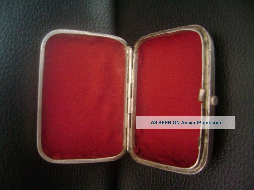 Fine Russian 84 Silver Rectangular Cigarette Case Moscow - 76gr Russia photo
