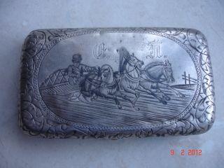 1893 Fine Russian 84 Silver Rectangular Cigarette Case Moscow - 71gr photo