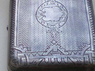 1893 Fine Russian 84 Silver Rectangular Cigarette Case Moscow - 145gr photo