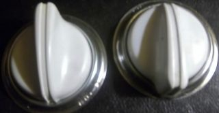 2 Vintage O ' Keefe & Merritt Gas Stove Control Knobs With Chrome Ring photo