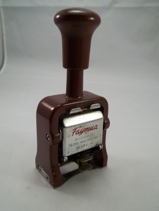 Vintage Number Numbering Stamper Faymus Model A Multiple Movement photo