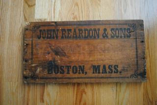 1800 ' S Antique Sign,  Primitive Wooden Trade Sign,  John Reardon Victor Soap Sign photo