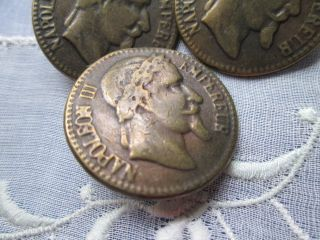 Antique/vintage Buttons From Copper Napoleon Iii - - Empereur photo
