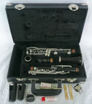 Wooden Noblet 40 Leblanc France Clarinet & Case Accessories Vandoren Mouthpiece photo