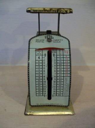 Vintage 1950s Idl Deluxe Thrifty Postal Scale photo