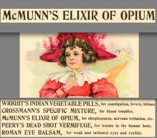 Elixir Of Opium Wright ' S Indian Pills Roman Eye Balsam Fever Cure Ny Trade Card photo