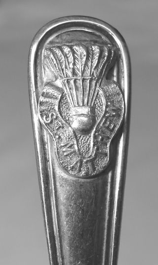 Old St Matthews Badminton Trophy Sterling Silver Spoon photo