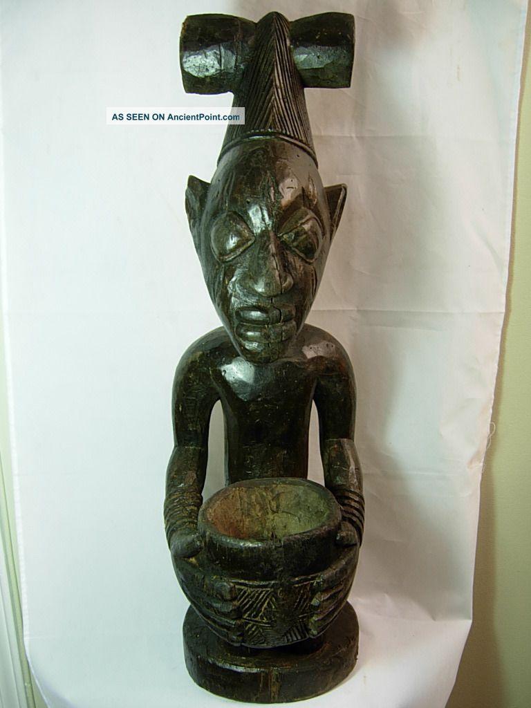 Large Shango Shrine Figure,  Yoruba,  Nigeria / Santeria Sculptures & Statues photo