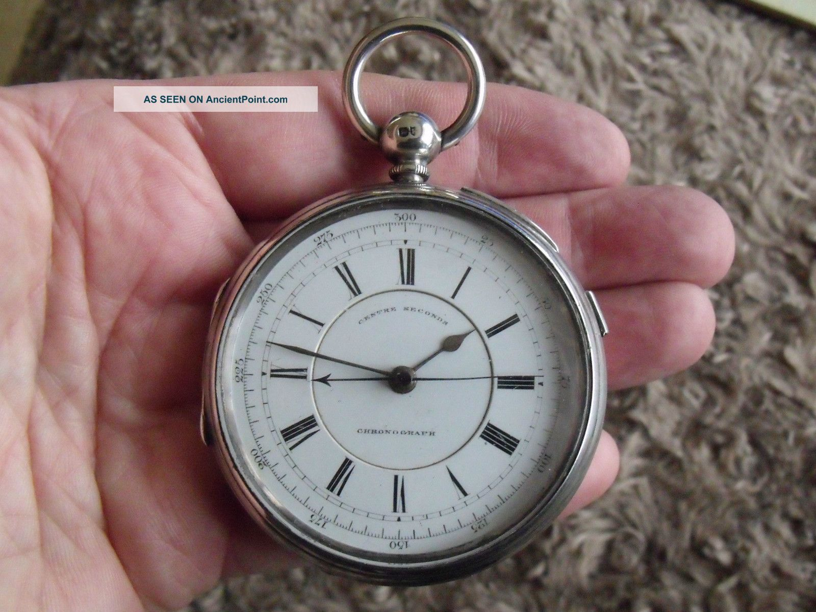 Large Silver Fusee Chronograph Pocket Watch ' No.  556230 ' - 1885/6 Pocket Watches/ Chains/ Fobs photo