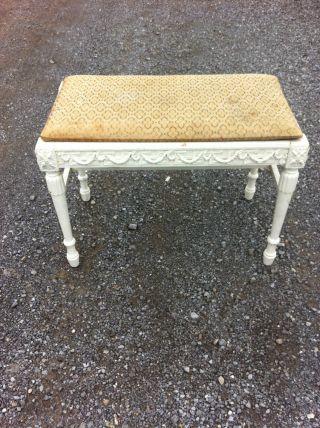 Slingh Antique Vanity Bench Stool (restoration Project) photo