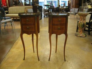 Pair Of Antique 19th Century Paul Sormani Louis Xv Style Ormolu Side Tables photo