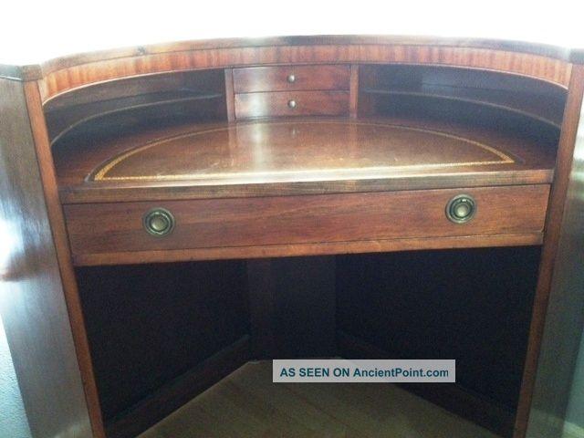 - Rare Antique Corner Writing Desk & Chair