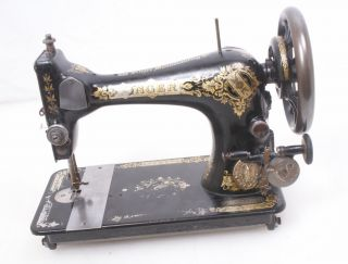 Antique Singer 1914 Model 28 Sewing Machine For Repair/parts Hand Crank Treadle photo