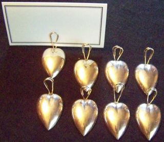 Set Of 8 Sterling By Gorham Place Card Holders - View Our Finethings4sale photo