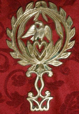 Vintage Wilton Cast Brass Eagle Trivet Hot Plate photo
