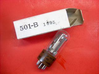 Vtg Jettron Electron Vacuum 501 - B 1695 Ks14400 Ham Radio Cb Delay Relay Tube Nos photo