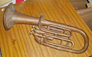 Antique C1910 F.  Besson Euphonium Brevete Paris Musical Instrument photo