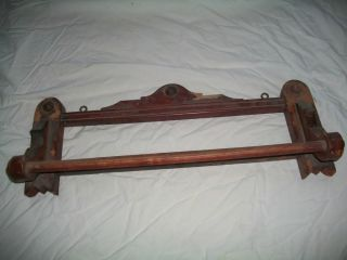 Antique Victorian Towel Rack / Holder / Shelf photo