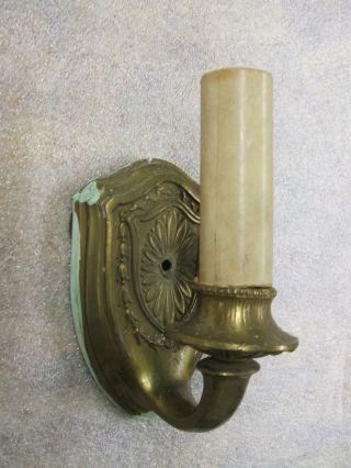 Ornate Vintage Victorian Art Nouveau Fancy Electric Wall Sconce photo