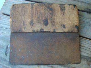 Primitive Dough Scraper/cutter Hand Fordged Blade Wood Handle Org C: 1800 ' S photo