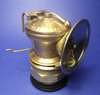 Antique Carbide Miner ' S Lamp - Brass Auto Lite - Circa 1925 - Universal Lamp Co. photo