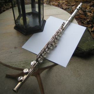 Interesting Rare Antique / Vintage Flute By Robert Siour,  Paris,  France. photo