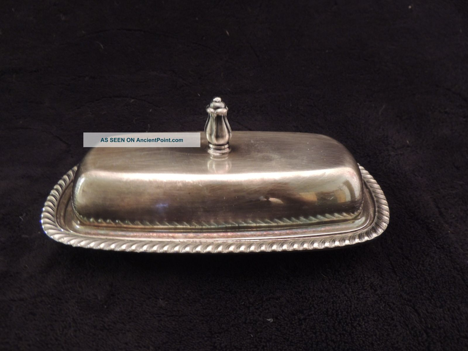 Vintage Fiesta By Oneida Ltd Silver Plate Butter Dish Set Butter Dishes photo