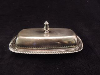 Vintage Fiesta By Oneida Ltd Silver Plate Butter Dish Set photo