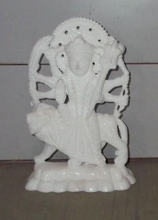 Hindu Idol Durga Fine Marble Statue _ Handicraft photo