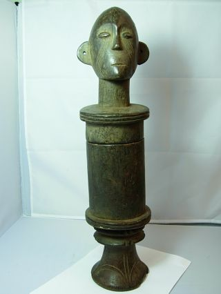 Collectable Rare Boa Reliquary Container,  Democratic Republic Of Congo photo
