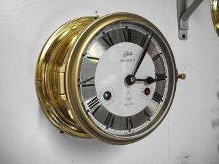 Vintage Schatz 8 Days Royal Mariner Sea Quartz Ships Clock Working photo