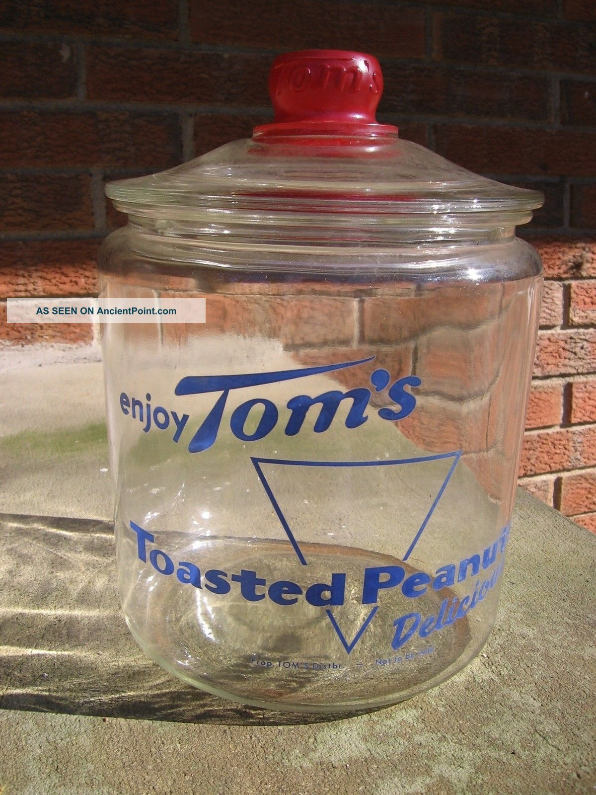 Antique General Store Container,  Toms Toasted Peanuts Glass Jar W/ Lid Other photo