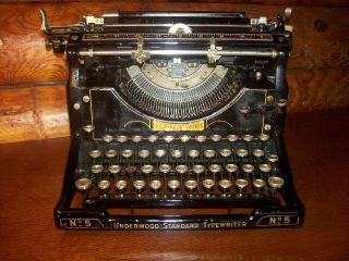 Antique Underwood Typewriter No 5 - Working Underwood Standard Typewriter No.  5 photo