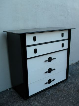 Mid - Century Hollywood Regency Chest Of Drawers By Kent - Coffey 2824 photo