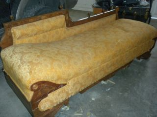 Antique Victorian 1900s Fainting Couch Lounge Chasises Eastlake Fold Out Bed photo