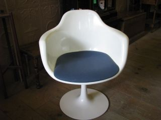 Mid Century Modern Krueger Chair With Tulip Base photo