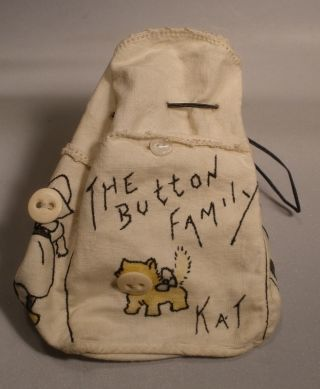Button Storage Bag With Button Family Design photo