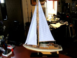 Handcrafted Nordia Classic Sailboat Wooden Model Yacht 30