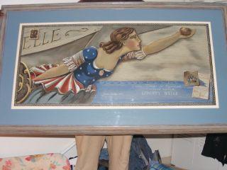 Jackson Coolidge Fecit Liberty Belle Clipper Scale Design For Figurehead Retro photo