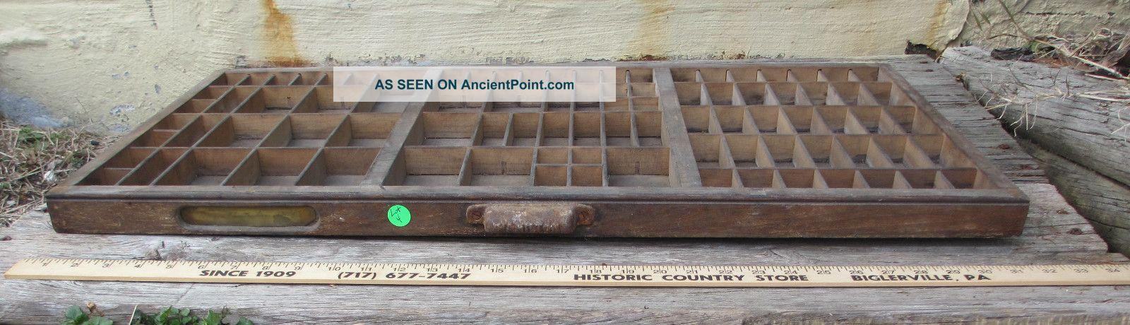 Antique Letterpress Drawer Letterpress Drawer / Tray