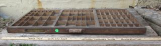Vintage Antique Hamilton Printers Printing Wood Letterpress Drawer / Tray Lot 4 photo