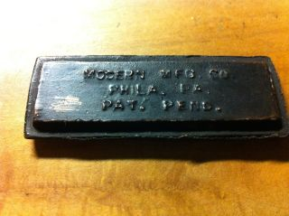 Rare 1900 ' S Modern Mfg.  Co.  Phila.  Pa.  Pat.  Pend.  Copper Printers Block photo