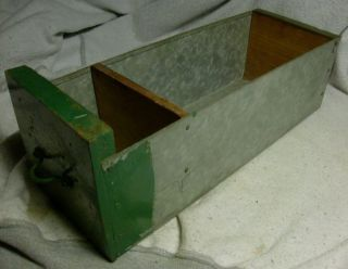 1 Antique Vintage Galvanized & Wood Industrial Factory Decor Drawer Display 2 photo