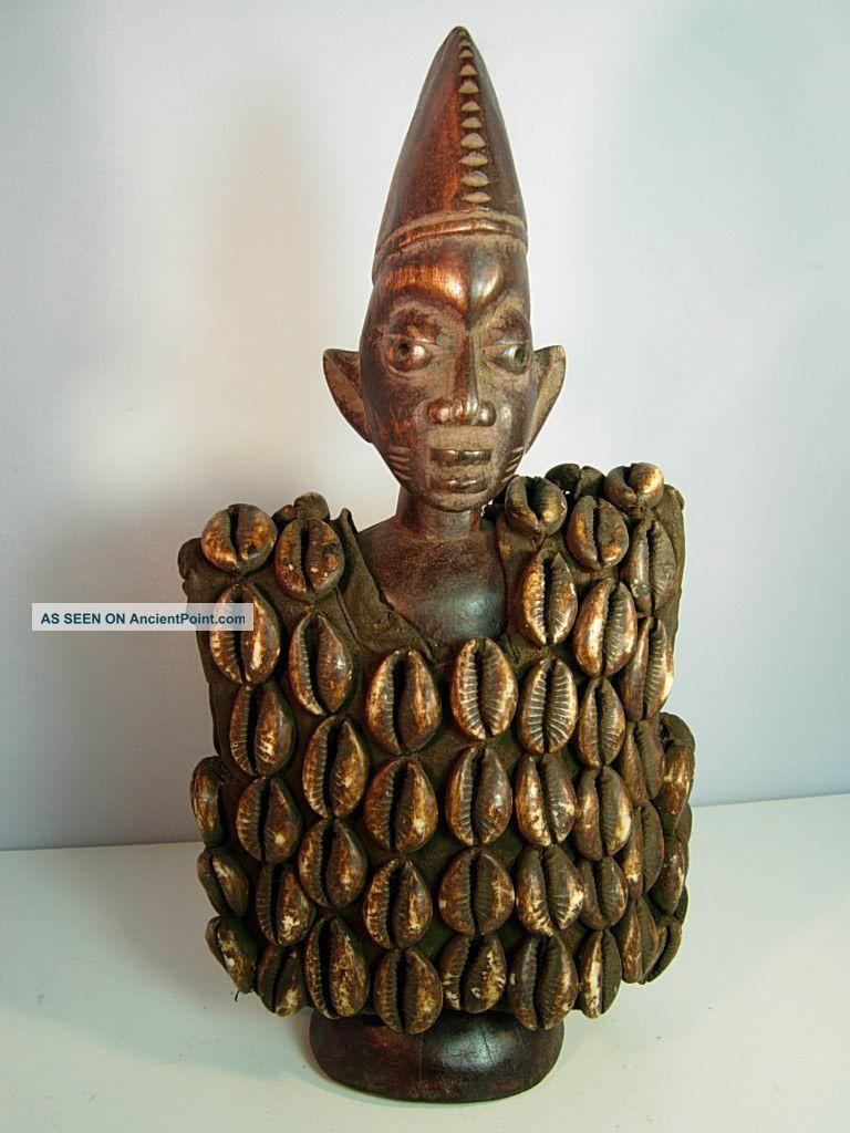 Lot 92,  Ere Ibeji Male Twin With Cowrie Shell Jacket,  Yoruba / Santeria Sculptures & Statues photo
