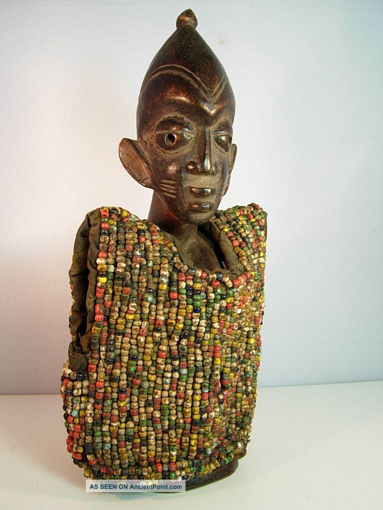 Lot 94,  Ere Ibeji Female Twin With Beaded Jacket,  Yoruba / Santeria Sculptures & Statues photo