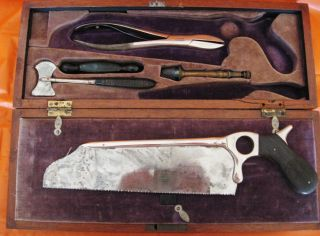 Post Civil War/indian War Circa 1870 Extensive Surgical Amputation Set W/box photo