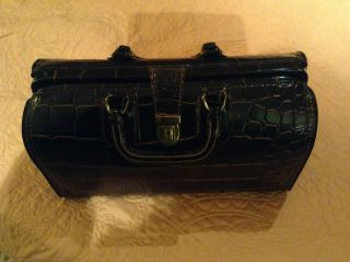 Vintage Swiss Homa Doctor ' S Bag,  Crocodile Leather photo