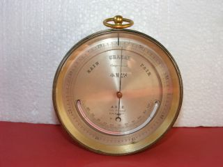 Ship ' S Barometer / Thermometer,  M28 + Broad Arrow By Adie Of London,  C.  1850 photo