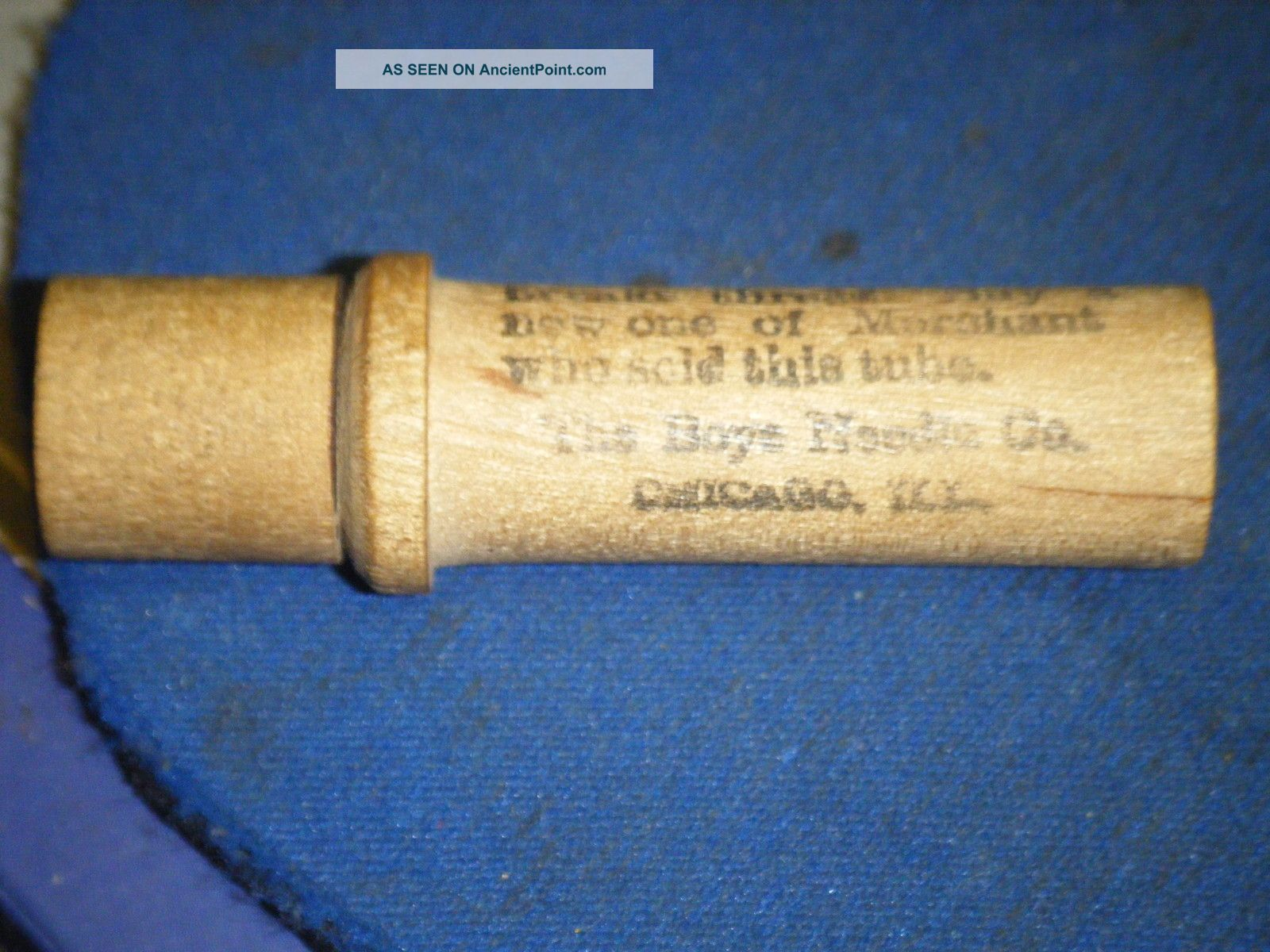 Antique Wood Sewing Needle Case The Boys Needle Co.  Chicago 1910 / 30 Needles Needles & Cases photo